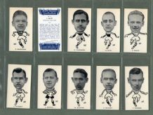 Tobacco cards set Cigarette cards Well-known Footballers 1938 Scottish